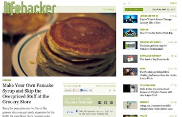 http://lifehacker.com/5910704/make-your-own-pancake-syrup-and-skip-the-overpriced-stuff-at-the-grocery-store
