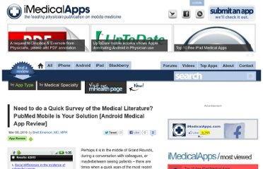 http://www.imedicalapps.com/2010/03/pubmed-mobile-android-medical-app-review/