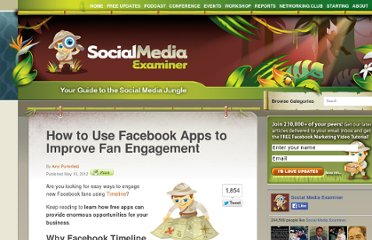 http://www.socialmediaexaminer.com/facebook-apps-to-drive-facebook-timeline-engagement/