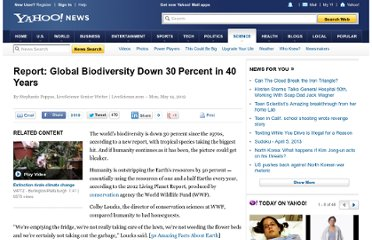 http://news.yahoo.com/report-global-biodiversity-down-30-percent-40-years-000930009.html