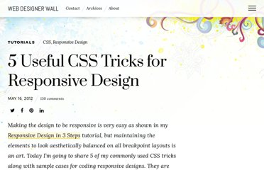http://webdesignerwall.com/tutorials/5-useful-css-tricks-for-responsive-design