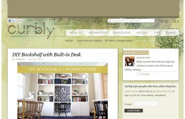http://www.curbly.com/users/mollymc/posts/13773-diy-bookshelf-with-built-in-desk