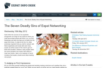 http://www.expatinfodesk.com/blog/2012/05/16/the-seven-deadly-sins-of-expat-networking/