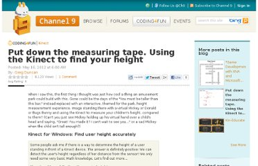 http://channel9.msdn.com/coding4fun/kinect/Put-down-the-measuring-tape-Using-the-Kinect-to-find-your-height