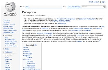 http://en.wikipedia.org/wiki/Deception