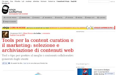 http://www.ninjamarketing.it/2012/01/24/tools-per-la-content-curation-e-il-marketing-selezione-e-archiviazione-di-contenuti-web/