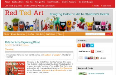 http://www.redtedart.com/2012/05/16/famous-artists-art-for-kids-klimt/
