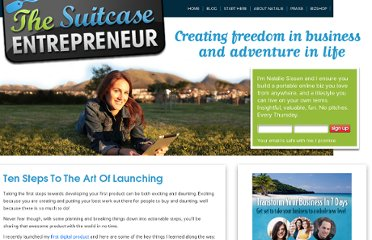http://suitcaseentrepreneur.com/build-your-online-business/ten-steps-to-the-art-of-launching/
