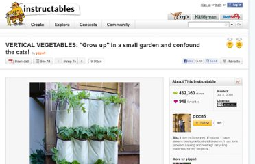 http://www.instructables.com/id/VERTICAL-VEGETABLES-quotGrow-upquot-in-a-smal/