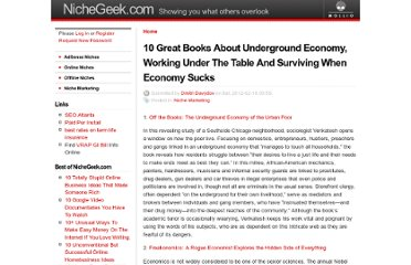 http://nichegeek.com/10_great_books_about_underground_economy_working_under_the_table_and_surviving_when_economy_sucks_0