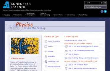 http://www.learner.org/courses/physics/index.html