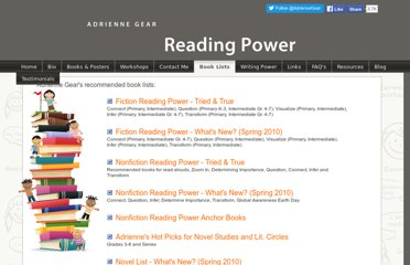 http://www.readingpowergear.com/book-lists.html