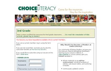 https://www.choiceliteracy.com/members/login.cfm?hpage=department82.cfm