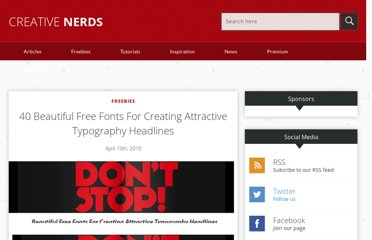 http://creativenerds.co.uk/freebies/40-beautiful-free-fonts-for-creating-attractive-typography-headlines/