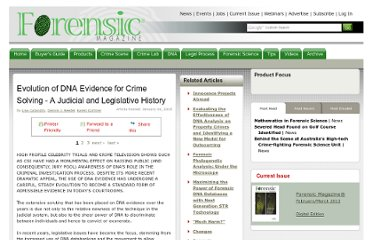 http://www.forensicmag.com/article/evolution-dna-evidence-crime-solving-judicial-and-legislative-history