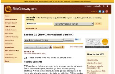 http://www.biblegateway.com/passage/?search=Exodus+21&version=NIV