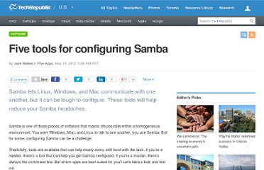 http://www.techrepublic.com/blog/five-apps/five-tools-for-configuring-samba/1398