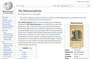 http://en.wikipedia.org/wiki/The_Metamorphosis