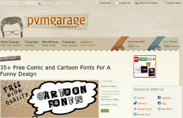 http://www.pvmgarage.com/2009/07/35-free-comic-and-cartoon-fonts-for-a-funny-design/