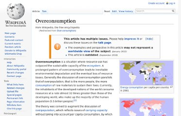 http://en.wikipedia.org/wiki/Over-consumption