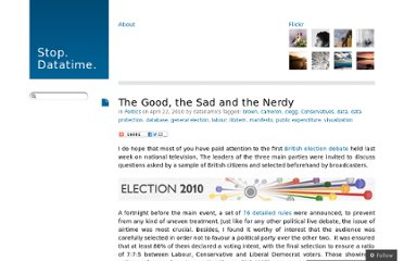 http://datanamics.wordpress.com/2010/04/22/the-good-the-sad-and-the-nerdy/