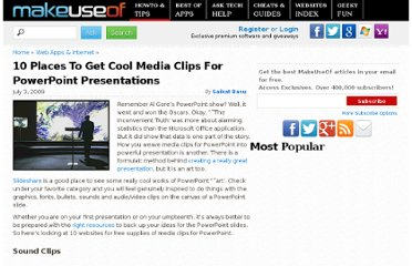 http://www.makeuseof.com/tag/10-websites-with-free-cool-media-clips-for-powerpoint/