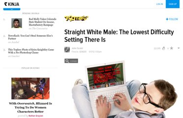 http://kotaku.com/5910857/straight-white-male-the-lowest-difficulty-setting-there-is