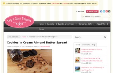 http://keepitsweetdesserts.com/cookies-n-cream-almond-butter-spread/