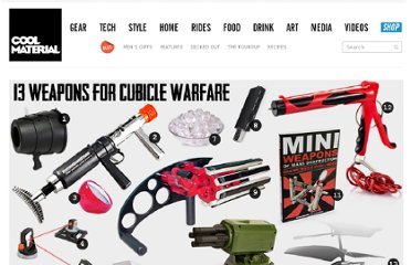 http://coolmaterial.com/work/13-weapons-for-cubicle-warfare/