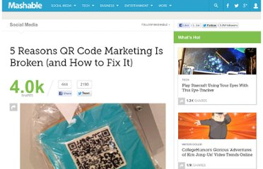 http://mashable.com/2012/05/17/reasons-qr-codes-are-broken/