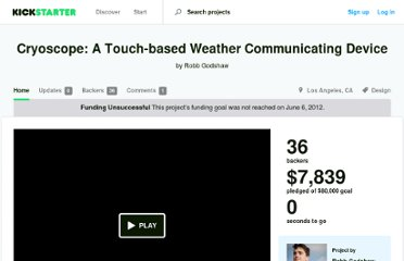 http://www.kickstarter.com/projects/robbgodshaw/cryoscope-a-touch-based-weather-communicating-devi