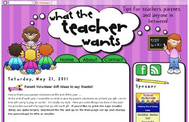 http://whattheteacherwants.blogspot.com/2011/05/parent-volunteer-gift-ideas.html