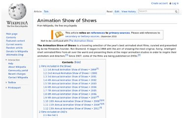 http://en.wikipedia.org/wiki/Animation_Show_of_Shows