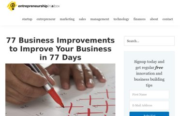 http://www.entrepreneurshipinabox.com/1246/77-business-improvement-77-days/