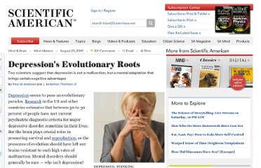 http://www.scientificamerican.com/article.cfm?id=depressions-evolutionary