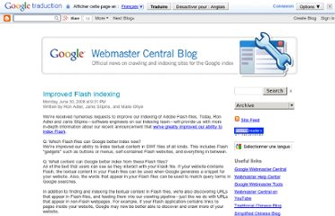 http://googlewebmastercentral.blogspot.com/2008/06/improved-flash-indexing.html
