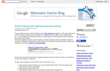 http://googlewebmastercentral.blogspot.com/2009/06/flash-indexing-with-external-resource.html