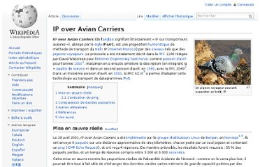 http://fr.wikipedia.org/wiki/IP_over_Avian_Carriers