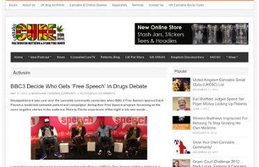 http://cannabiscure.co.uk/bbc3-decide-who-gets-free-speech-in-drugs-debate/