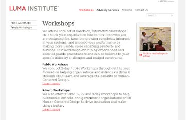 http://www.luma-institute.com/workshops