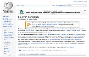 http://en.wikipedia.org/wiki/Electron_deficiency