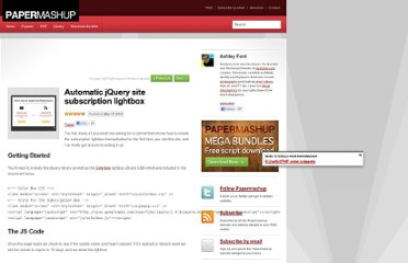 http://papermashup.com/automatic-jquery-site-subscription-lightbox/