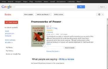 http://books.google.co.nz/books/about/Frameworks_of_Power.html?id=hiV_SUiUpqMC
