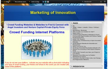 http://www.strategy-of-innovation.com/pages/Crowd_Funding_Websites-4605700.html