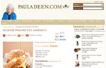 http://www.pauladeen.com/recipes/recipe_view/sausage_pancake_egg_sandwich/