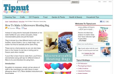 http://tipnut.com/make-your-own-microwave-heating-pad/