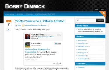 http://bobbydimmick.com/archive/2012/03/whats-it-take-to-be-a-software-architect/