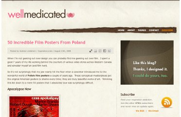 http://wellmedicated.com/inspiration/50-incredible-film-posters-from-poland/
