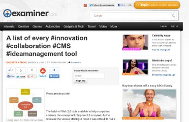 http://www.examiner.com/article/a-list-of-every-innovation-collaboration-cms-ideamanagement-tool