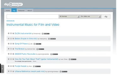 http://dig.ccmixter.org/music_for_film_and_video?offset=20